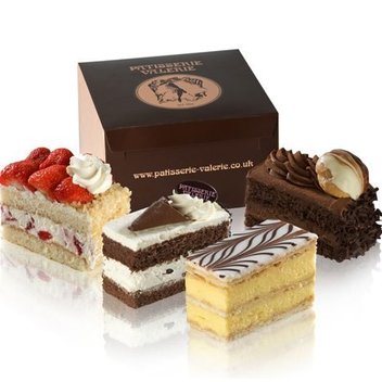 Indulge in a box of luxury cakes from Patisserie Valerie