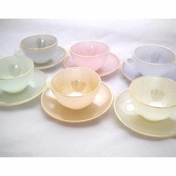 Win an antique pastel tea set