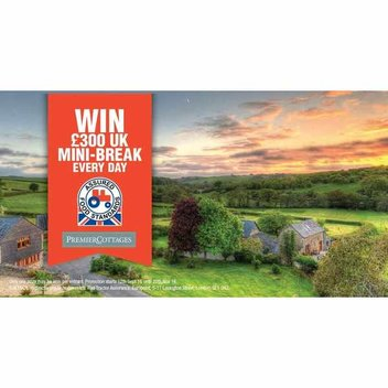 WIN a £300 Mini-Break with Red Tractor every day