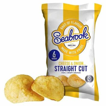 Spin to score a free bag of Seabrook Cheese & Onion crisps