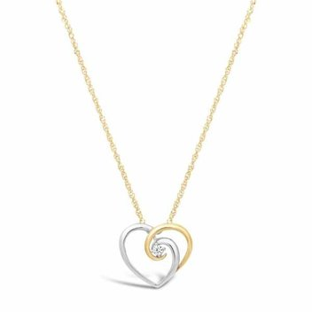 Win a gold heart necklace with Fraser Hart Jewellers
