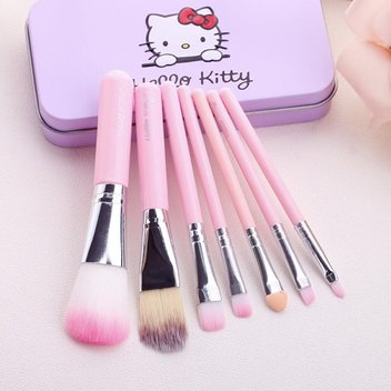 Free Hello Kitty Makeup Brush Set