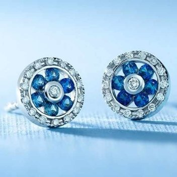 Win a pair of Sapphire & Diamond earrings worth £864