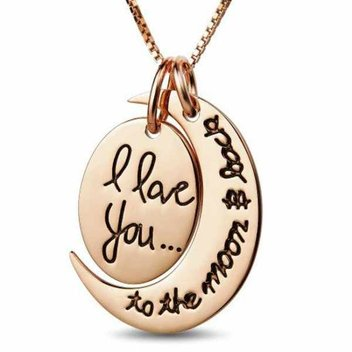 Free Rose Gold I Love You To The Moon & Back necklace