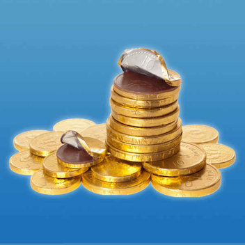 Free net of chocolate coins
