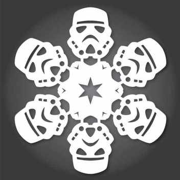 Free Star Wars snowflakes templates