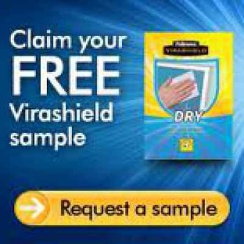 Free sample of Virashield Wipes