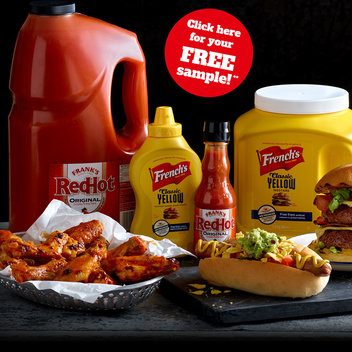 Sample Frank's & French's sauces for free