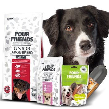 Redeem free Four Friends trial packs for your dog
