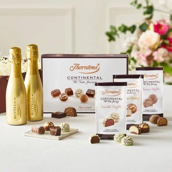Take home a free Thorntons chocolate & Prosecco giftset