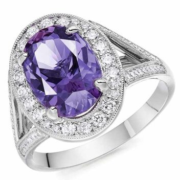 Win a 1 of a kind Amethyst and Diamond Cocktail Ring by Ingle & Rhode