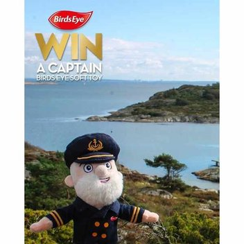 Get free Captain Birds Eye soft toy