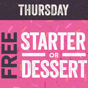 Get a free starter or dessert & other Hungry Horse deals
