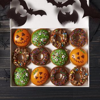 Gobble up a free box of Krispy Kreme Halloween donuts
