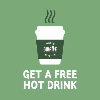 Pick up a free hot drink from Giraffe