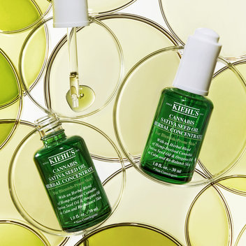 Pick up a complimentary Kiehl's Cannabis Sativa Seed Oil