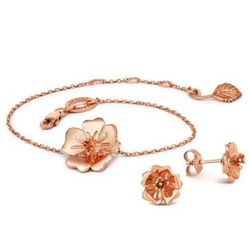 Win a Wild Rose Bracelet & Stud Earrings from Liz Earle