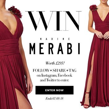 Put a free Nadine Merabi Ariana dress into your wardrobe