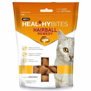 Get a free pack of Vet IQ Hairball Remedy Bites for your cat