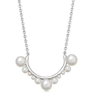 Win a Solitaire Swimsuit & Orbs Sterling Silver Curved Bar Necklace with Pearls