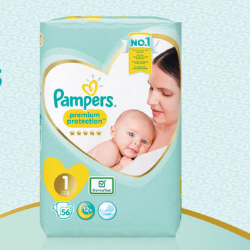 Pick up free Pampers Premium Protection nappies