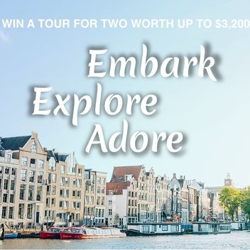 Embark on a free trip for 2 in Europe