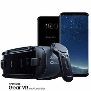 Win 1 of 3 Samsung Galaxy s8+ handsets, 1 of 5 Samsung Gear VR with Controller virtual reality headsets