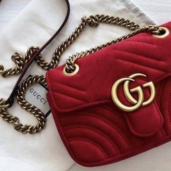 Receive a free Red Gucci Bag & Top Selling Brightening Boost Bundle