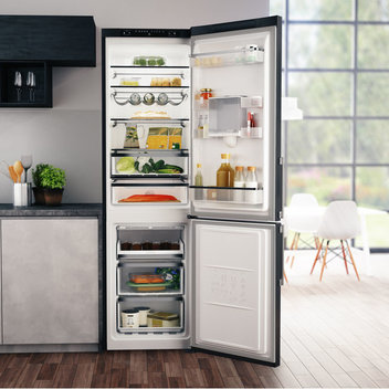 Upgrade your kitchen with a free Hotpoint Fridge-Freezer