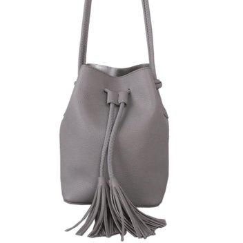 Win a Silver Grey Drawstring Bucket Bag & scarves