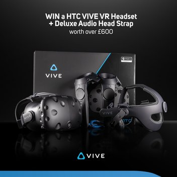 Win a HTC VIVE VR Headset + Deluxe audio headstrap