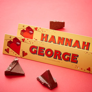Take home a free personalised Toblerone