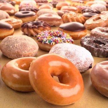 Enjoy a years supply of Kripy Kreme doughnuts