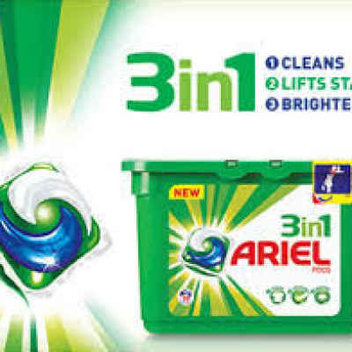 Free Ariel 3 in 1 Washing Pods