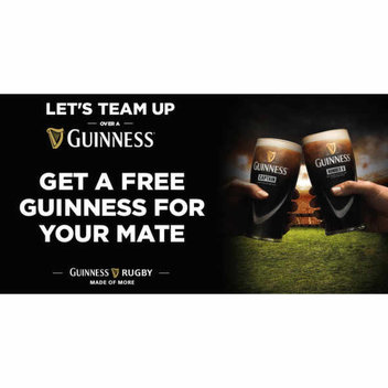 2 for 1 Guinness Giveaway from Match Pint