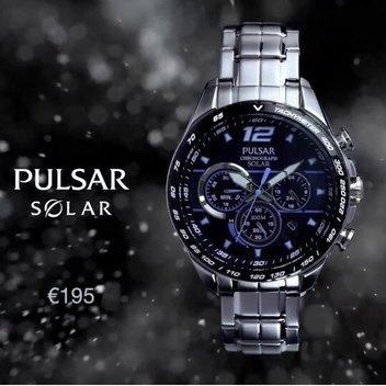 Win a Pulsar Chronograph Solar watch