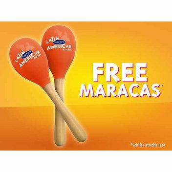 Get a free pair of Santa Maria maracas