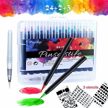 Secure a free Watercolour Brush Pens Set