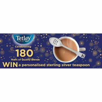 Get a personalized Tetley Tea silver spoon for free