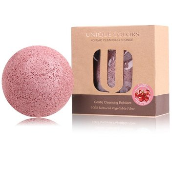 Free UNIQUE COLORS Natural Konjac Konnyaku Facial Sponges