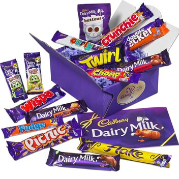 Take home a Cadbury Treasure Box filled with delicious chocolate treats