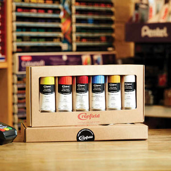 Acrylic paint sets up for grabs