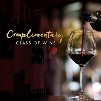 Enjoy a complimentary glass of wine with Miller & Carter