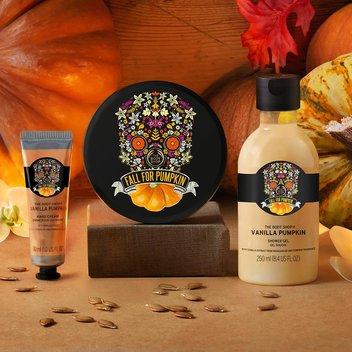 Get free Bodyshop Vanilla Pumpkin goodies