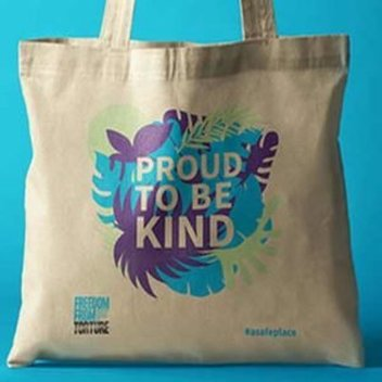 Free 'Proud to Be Kind' tote bag