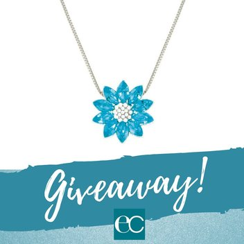 Win a Turquoise Swarovski Crystal Silver Tone Pendant Necklace