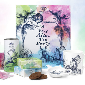 Take home a free Very Alice Tea Party gift set