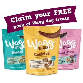 Claim a free pack of Wagg dog treats