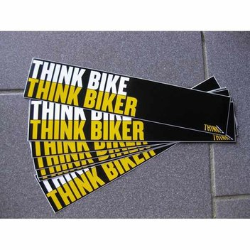 Free THINK BIKER Car Window Sticker
