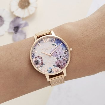 Get a free Olivia Burton Glasshouse Blush & Rose Gold watch